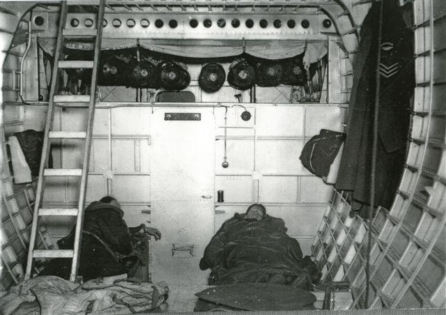 Sleeping quarters - port & starboard bunks