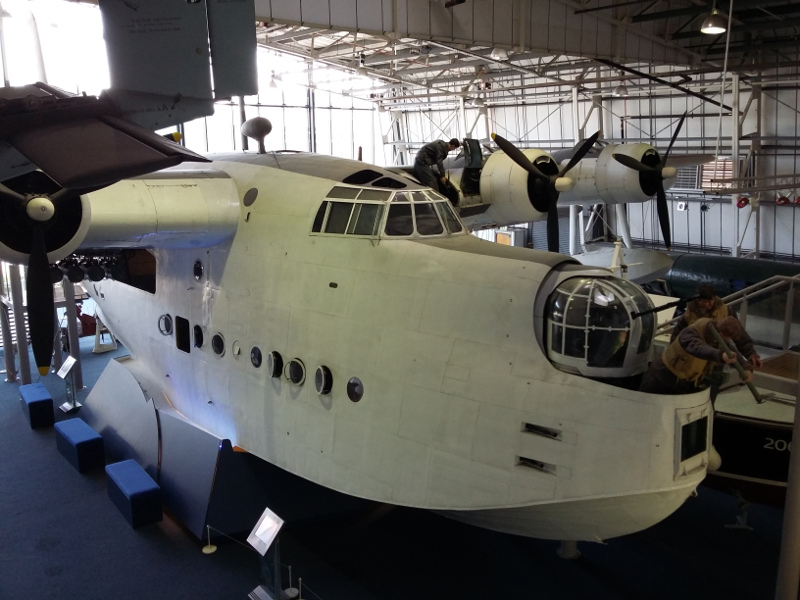 Sunderland flying boat at RAF Museum Hendon, viewed from the gallery