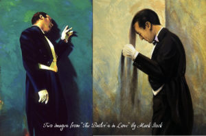 Two images from 'The Butler's in Love' by Mark Stock